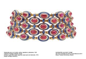 Gargantilla de oro con rubíes, zafiros, lapislázuli y diamantes, 1979. Collección Heritage de Bulgari, Roma.