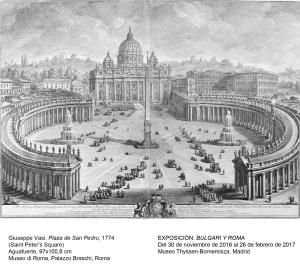 Giuseppe Vasi. Plaza de San Pedro, 1774. Museo di Roma, Palazzo Braschi, Roma.